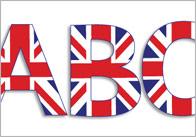 Union Jack Display Letters