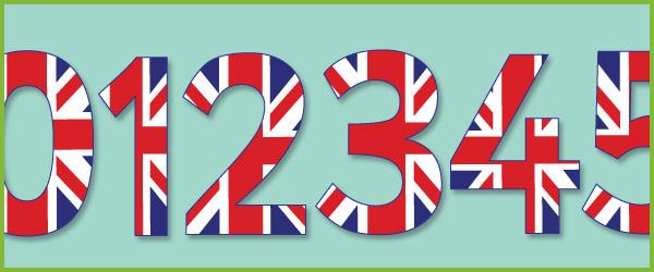 Union Jack Display Numbers