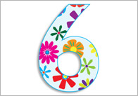 Beautifully Illustrated Floral Display Numbers