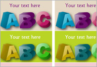 Editable 'ABC' Literacy Stickers