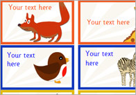 Editable Animal Themed Stickers