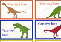 Editable Dinosaur Themed Stickers