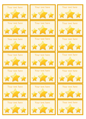 Gold Star Stickers / Badges