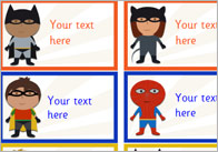 Editable Superhero Stickers