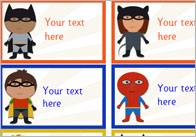 Editable Superhero Stickers