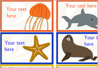 Editable Under The Sea Stickers