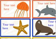 Editable Under The Sea Stickers