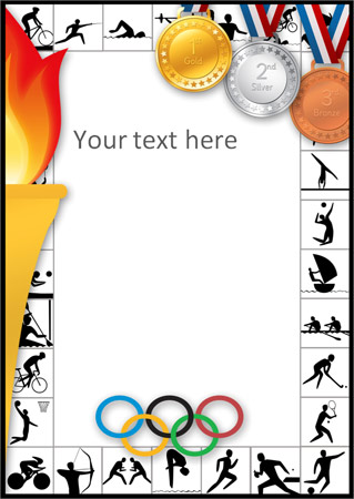 Olympic Themed Notepaper