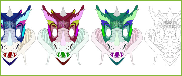 Dragon Role-Play Masks