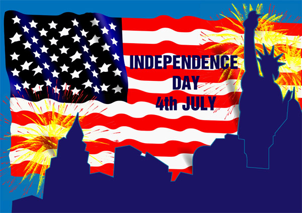 American Independence Day A4 Poster