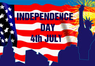 Large American Independence Day Banner