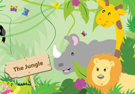 Large Jungle Themed Poster