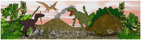 Small World Scenery Dinosaur Scene Free Early Years