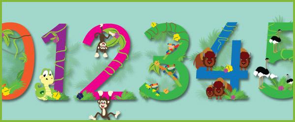 Exotic Animal Display Numbers