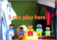 Areas Of The Room 'Can Play Here' Signs