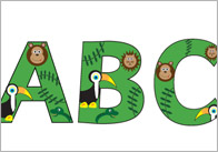 Jungle letters thumb Jungle Display Letters