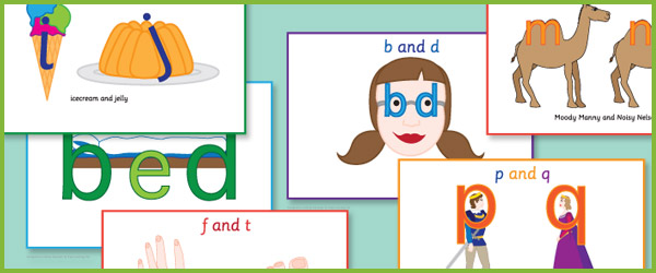 confusing letters a4 posters  dyslexia teaching resources