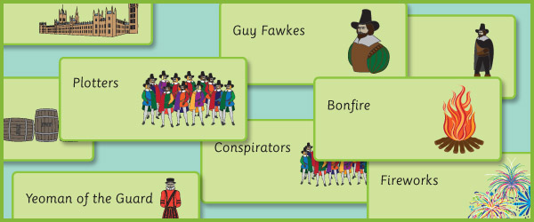 Gunpowder Plot Picture Cards