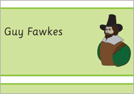 Gunpowder Plot / Guy Fawkes Word Cards