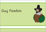 Gunpowder Plot / Guy Fawkes Word Cards