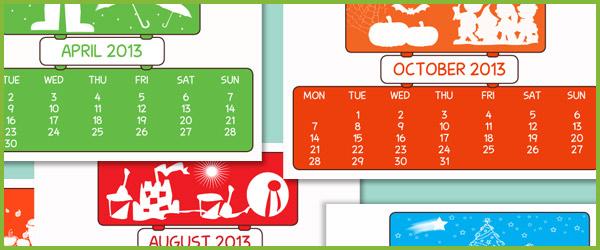 Free 2013 calendar download
