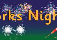 Fireworks Night Display Poster