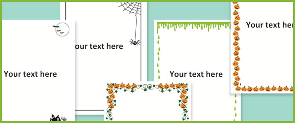 Halloween notepaper / page borders