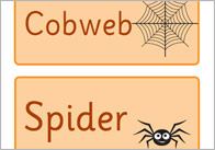 Editable Halloween Word Cards / Labels