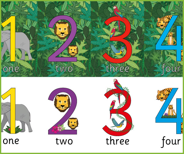 Jungle Display Numbers Free Early Years Amp Primary
