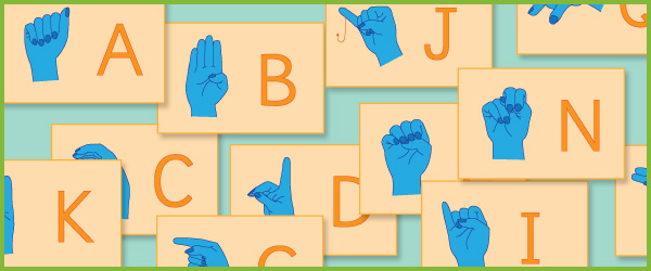 Sign Language Flash Cards (A-Z)
