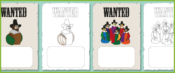 Guy Fawkes Wanted Posters
