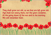 'Ode of Remembrance' Poster