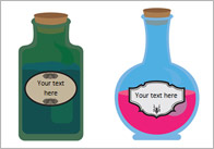 Editable Pupil Self-Registration Potion Bottles