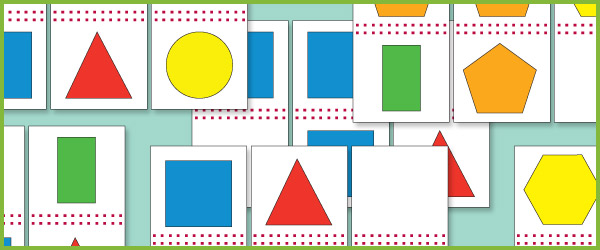 2D Shape Dominoes - 2D Shapes Games