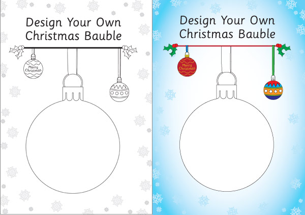 Design Your Own Bauble Template : Free Early Years ...