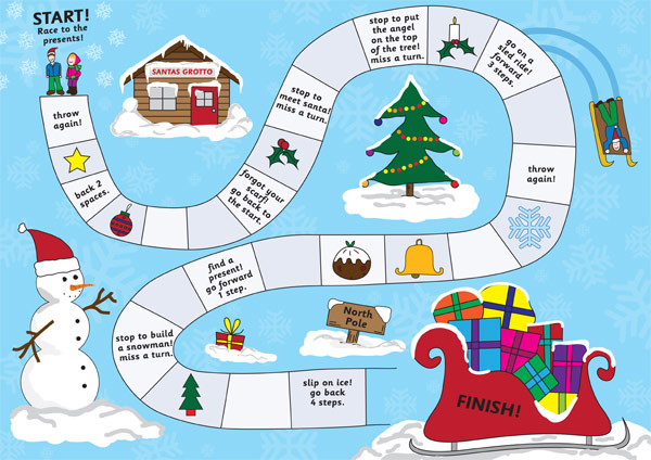Christmas Board Game (eyfs, ks1) : Free Early Years ...