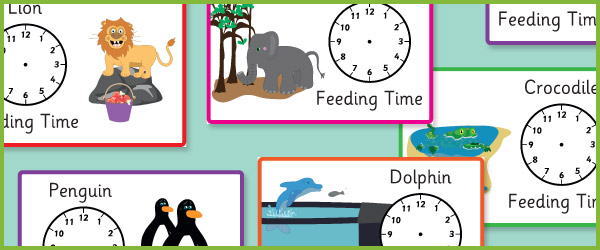 Zoo Feeding Time Posters