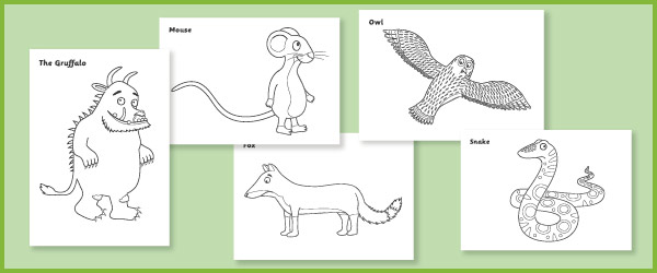 Gruffalo colouring sheets
