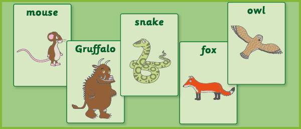 a4 gruffalo flash cards    display posters