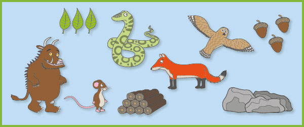 The Gruffalo Story Prompts Cut Outs Free Early Years Primary