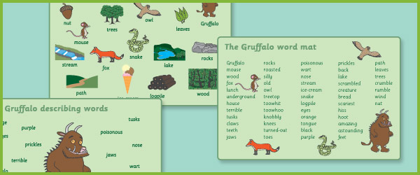 The Gruffalo Word Mats Free Early Years Primary Teaching