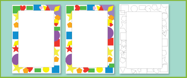 2D shape notepaper / page border