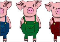 Three little pigs characters printable - photo#25