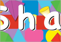 3d+2d shapes banner 1 2D & 3D Shapes Display Banner