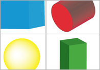 3d bingo1  3D Shape Bingo