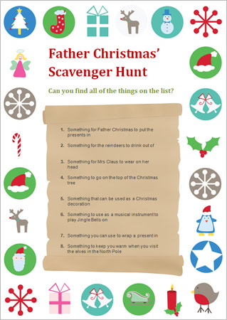 Father Christmas' Scavenger Hunt