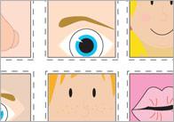 Facial Features Bingo Cards