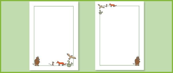 Gruffalo Notepaper