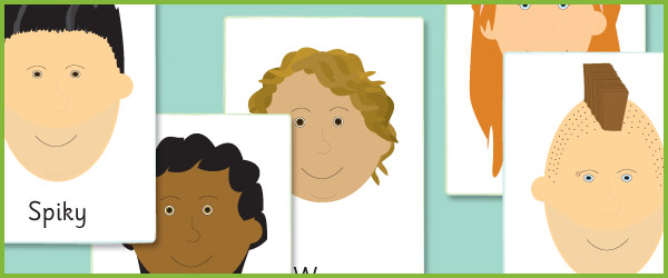 Early Learning Resources Hair Style Colour A4 Picture Cards