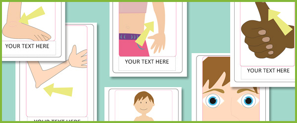 Editable Body Parts Posters